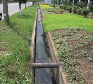 A wastewater channel in the Tra Noc industrial zone in Can Tho