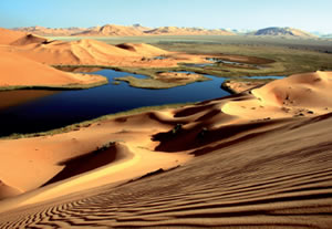 Model area in Saudi Arabia: water in the dessert (Source: GIZ IS, Riyadh)