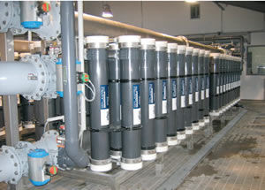 Ultrafiltration units for treating drinking water (stage 1)