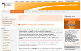 Hightech-Strategie 2020 für Deutschland