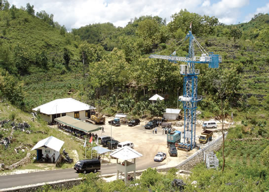 Drill site in the karst area