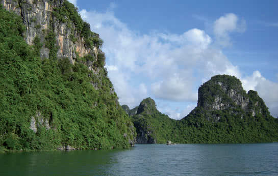 Ha Long Bay is a recognised world heritage site