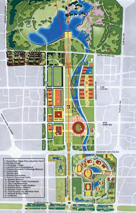 Map of the Olympic Park (source: www.strategy4.china.com)